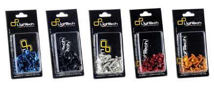 LighTech Ducati 749/999 02-06 Fairing Quick Fasteners Kit (9 Pcs)